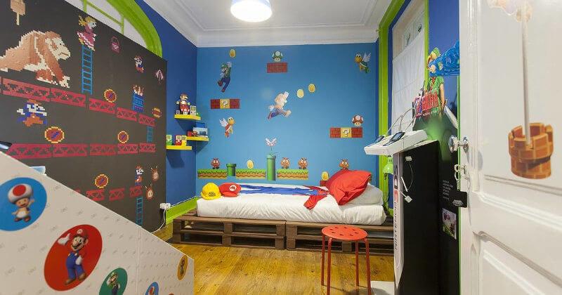 Habitación gamer para niños