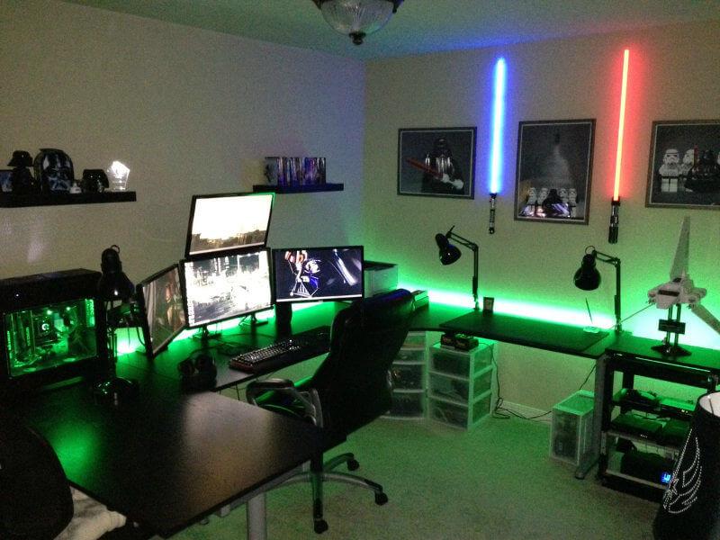 Habitación gamer temática